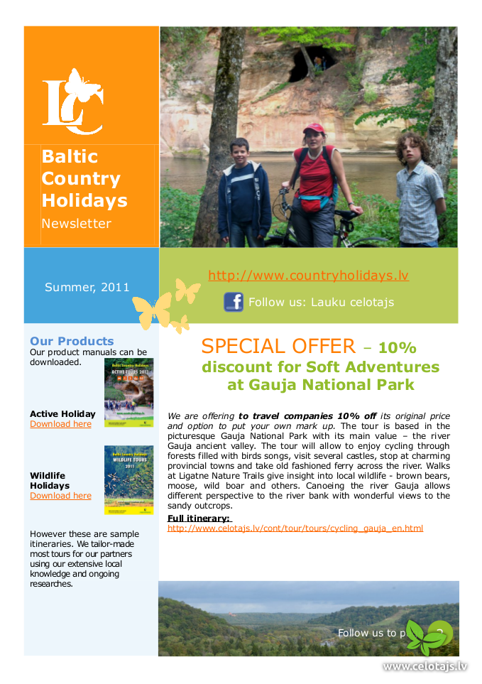 baltic country holidays newsletters